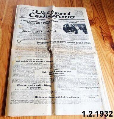 noviny 1932 1.února