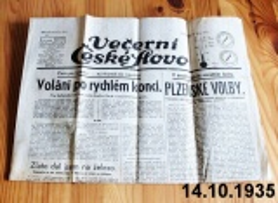 staré noviny 1935 říjen