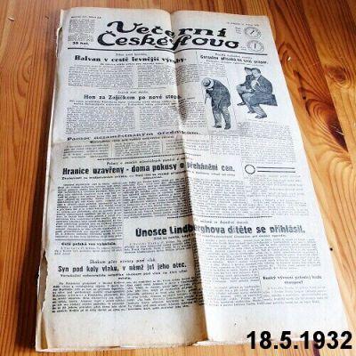 staré noviny 1932