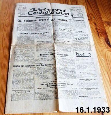 noviny 1933