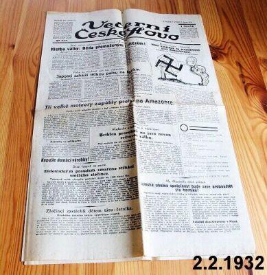 staré noviny předválečné