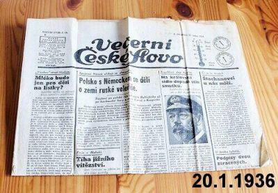 noviny z roku 1936