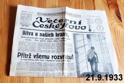 noviny z roku 1933