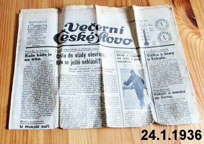 staré noviny 1936 leden