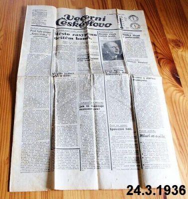 staré noviny březen 1936