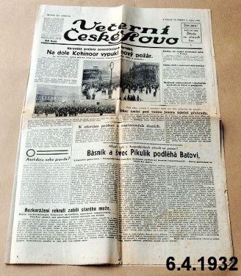 staré noviny předválečné 1932