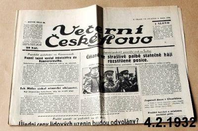noviny z roku 1932