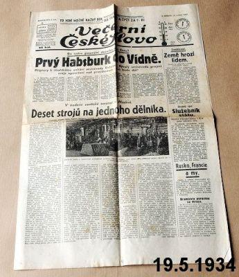 předválečné české noviny