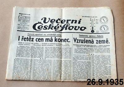předválečné noviny
