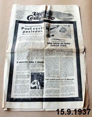 noviny z roku 1937