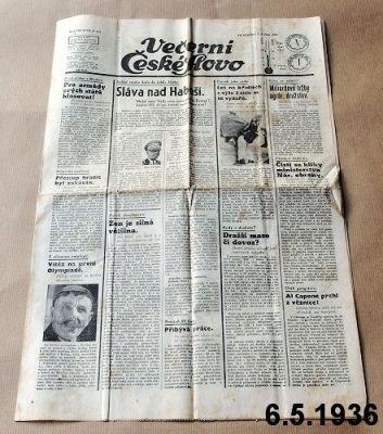 staré noviny 1936