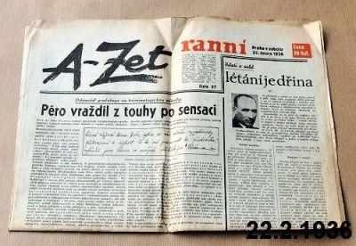staré noviny 1936 a-zet