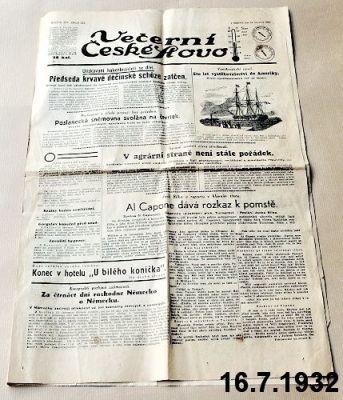 předválečné české slovo 1932
