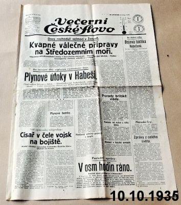 noviny z roku 1935