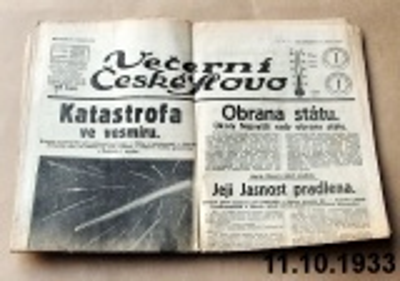 noviny rok 1933