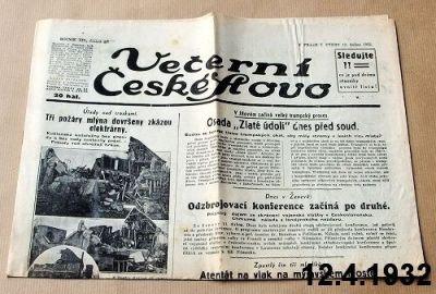 noviny z dubna 1932