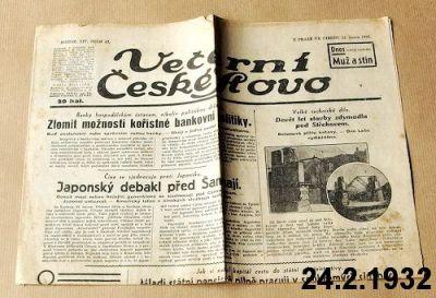 noviny z února 1932