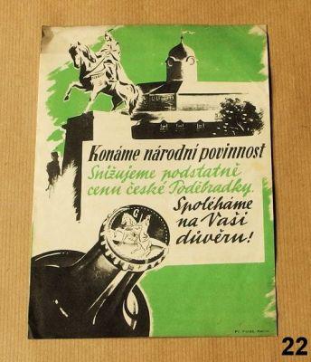 stará reklama na poděbradku