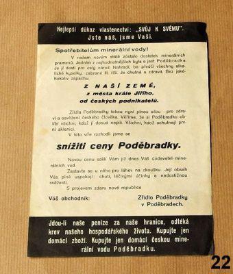 stará reklama na minerálku