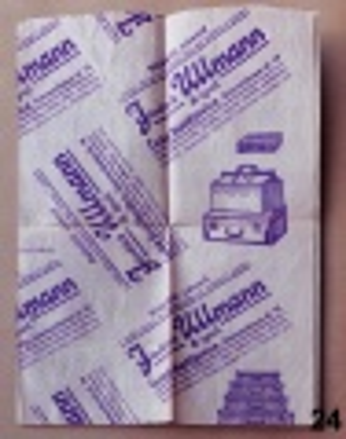 starý reklamní balící papír