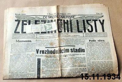 předválečné železniční noviny