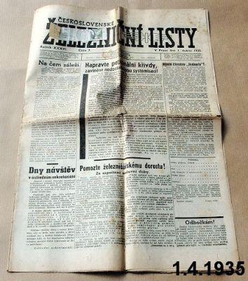 staré noviny pro železničáře