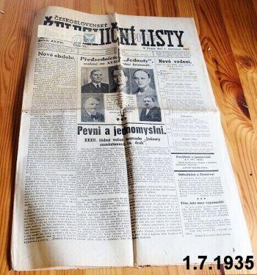staré železničářské noviny 1935