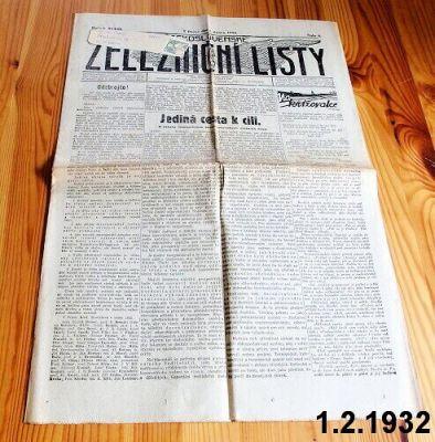 železniční listy rok 1932 únor