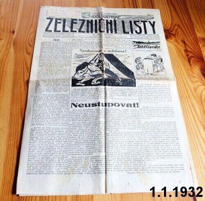 čs železniční listy 1932