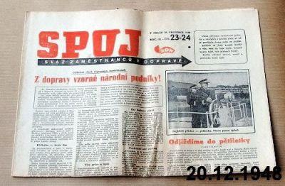noviny pro dopravu 1948