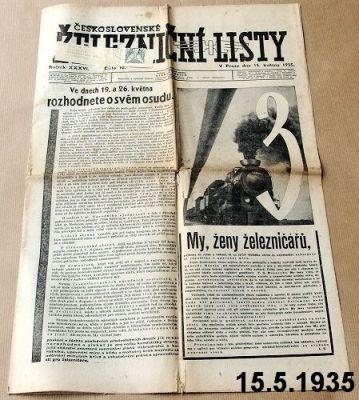 železniční noviny 1935
