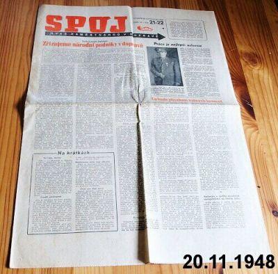 noviny Spoj z roku 1948