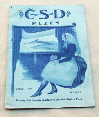 propagační časopis ČSD 1932