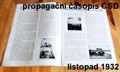 propagační časopis ČSD I.ročník 1932