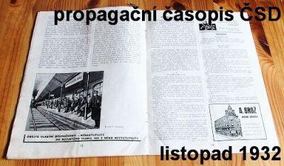 propagační časopis ČSD 11/1932