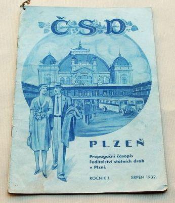 propagační časopis ČSD srpen 1932