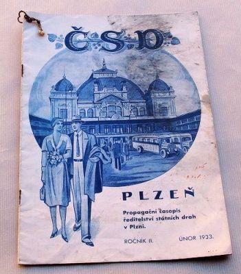 časopis státních drah z roku 1933