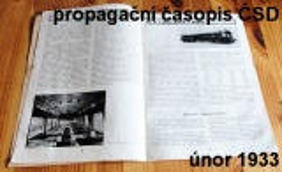 propagační časopis ČSD II.ročník 1933