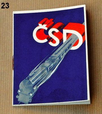 leták ČSD 1936