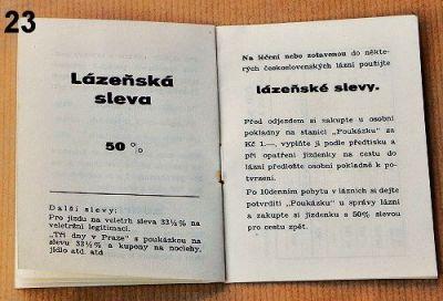 informace o jízdenkách ČSD 1936