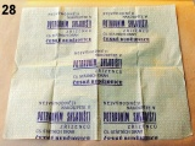 starý balící papír s reklamou ČSD
