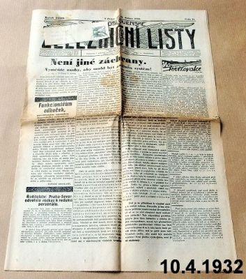 staré železniční listy 1932