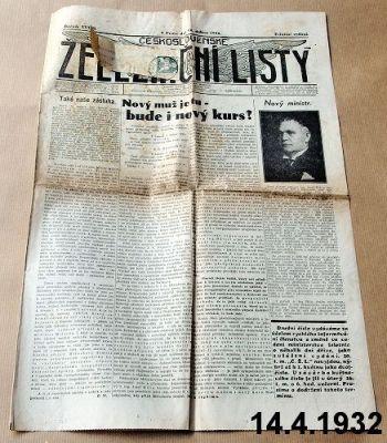 staré noviny železnice