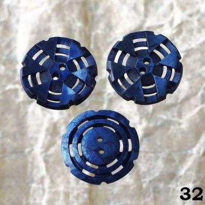 vintage modré knoflíky