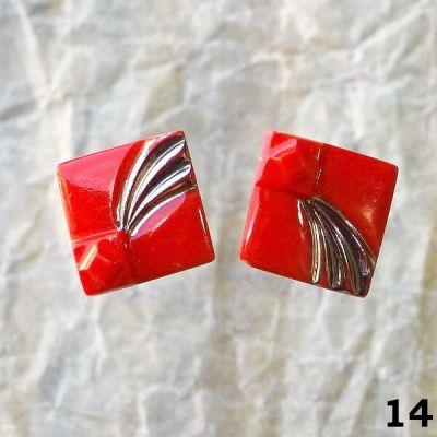 červené vintage knoflíky