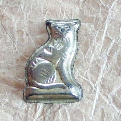 staré vánoční formičky kočka