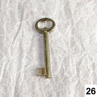starý klíč starozlatý