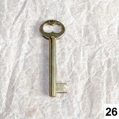 vintage klíč starozlatý