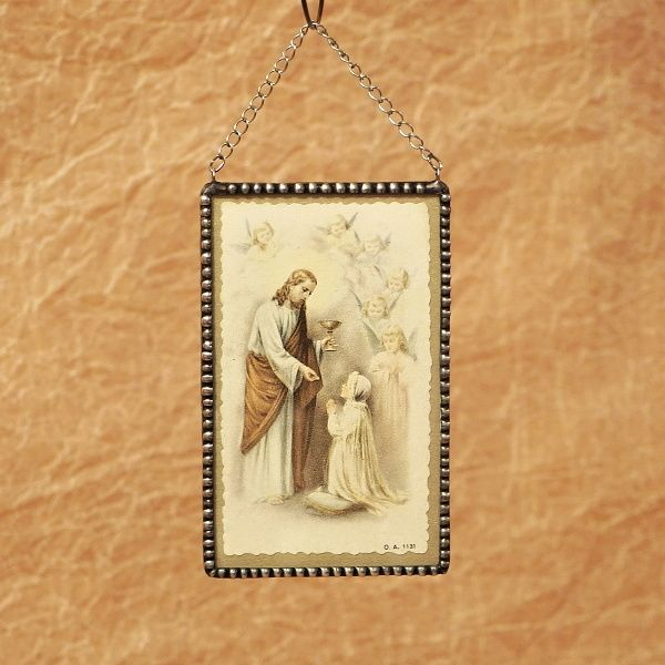 obrázek s cínovaným rámečkem Svaté přijímání