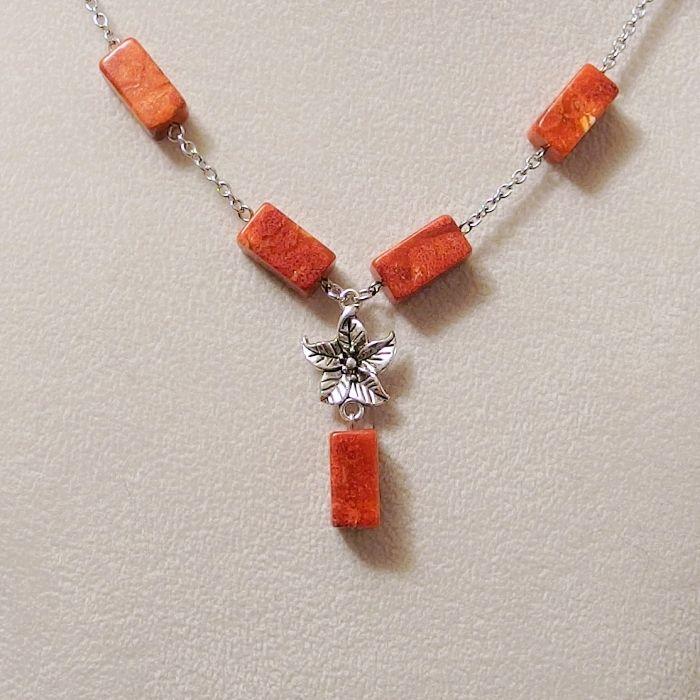 náhrdelník korál mořský